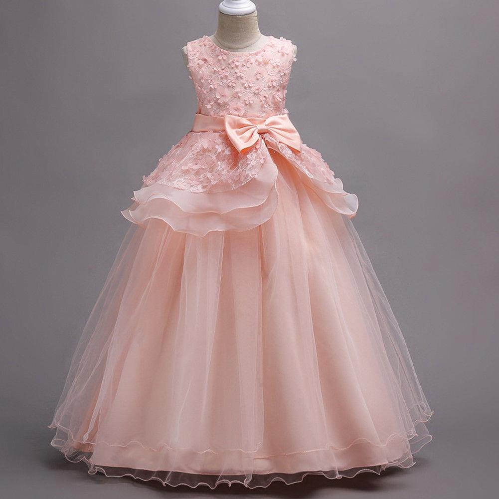 Blumenmädchen Kleid Kinder Kommunionkleid Hochzeit Partykleid ...