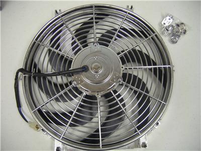14 Quot Chrome 2122 Cfm 12v Zirgo Electric Radiator Fan Street