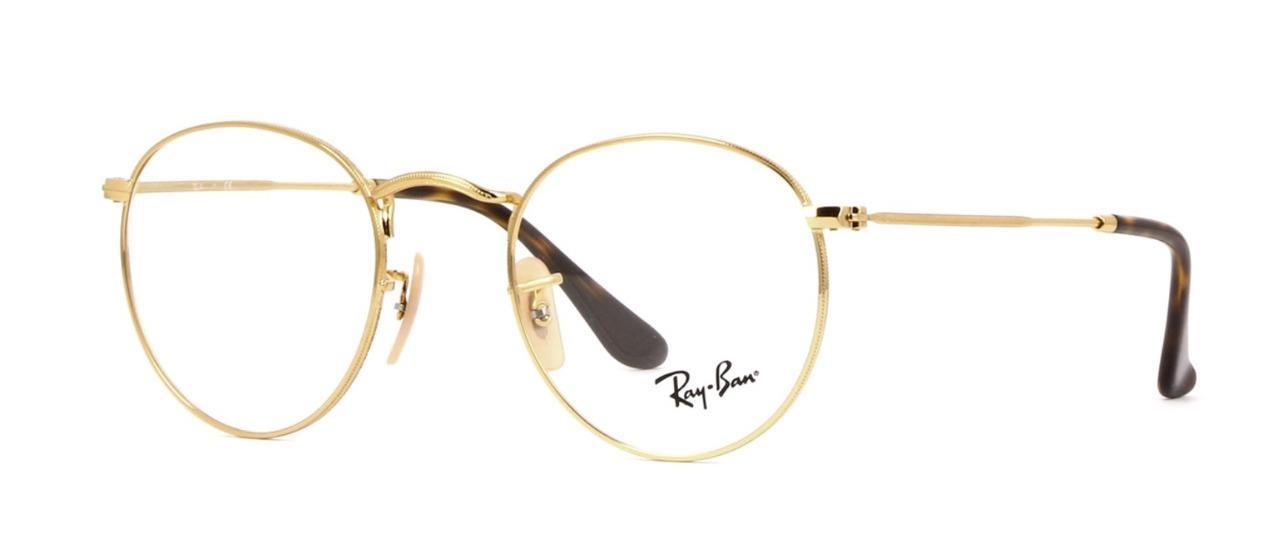 reich und großartig Offizieller Lieferant beliebte Marke Original Ray Ban Eyeglasses Frames Rx3447v 2500 50mm Gold Round