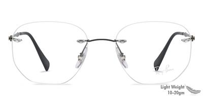 d906282f1 Ray Ban 8754 1128 Light Ray Gunmetal Black Rimless Brille Eyeglasses Frames  52mm