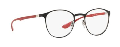 57eea3e8d3 RAY BAN RB 6355 2997 Matte Black   Red Brille Glasses Eyeglasses Frames  Size 50