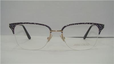 d7e4d11ed7a9 JIMMY CHOO JC 91 FIQ Gold Leopard  Ivory Half Rim Glasses Frames Eyeglasses  51mm