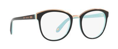 1760ebf12a8 Tiffany   Co TF 2162 8055 Black   Blue Brille Glasses Frames Eyeglasses  Size 51