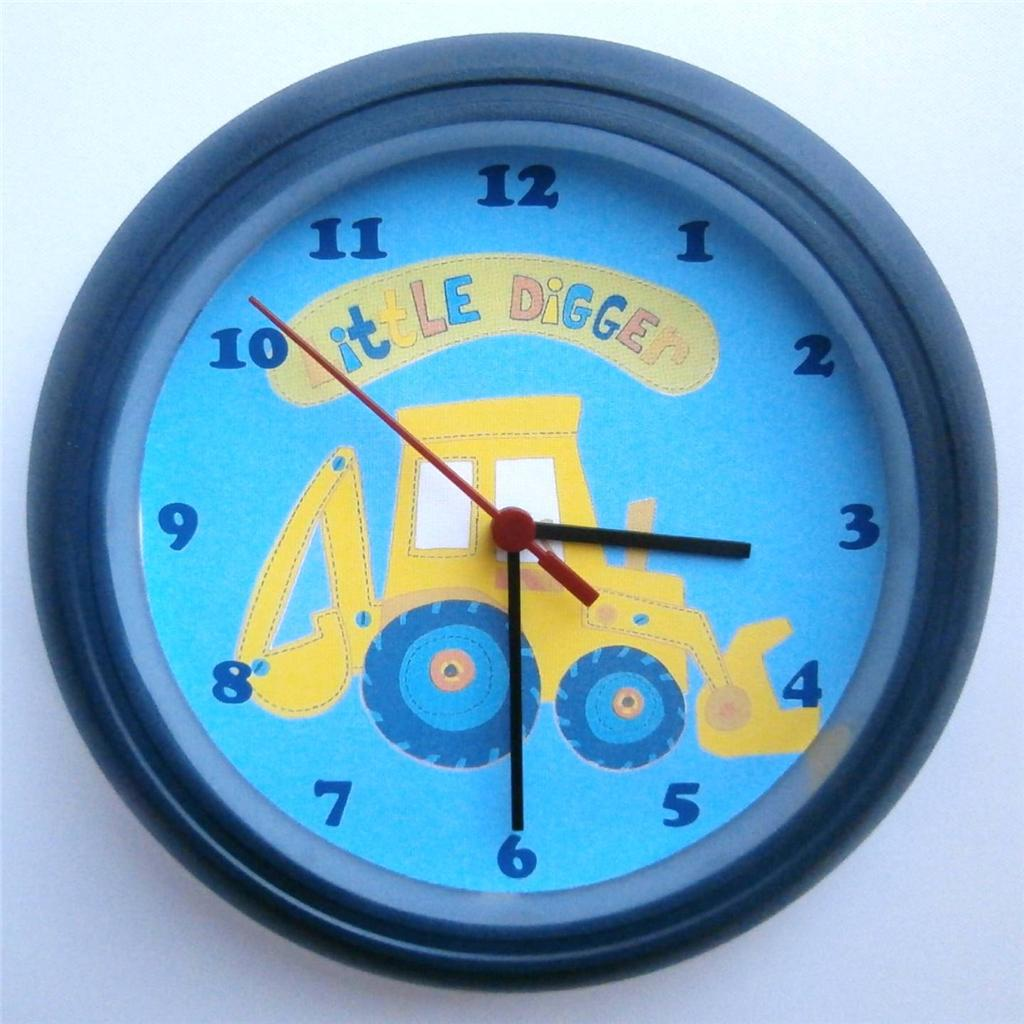 Tinkerbell Bedroom Furniture Brand New Kids Wall Clock With Next Little Digger Free P Amp P