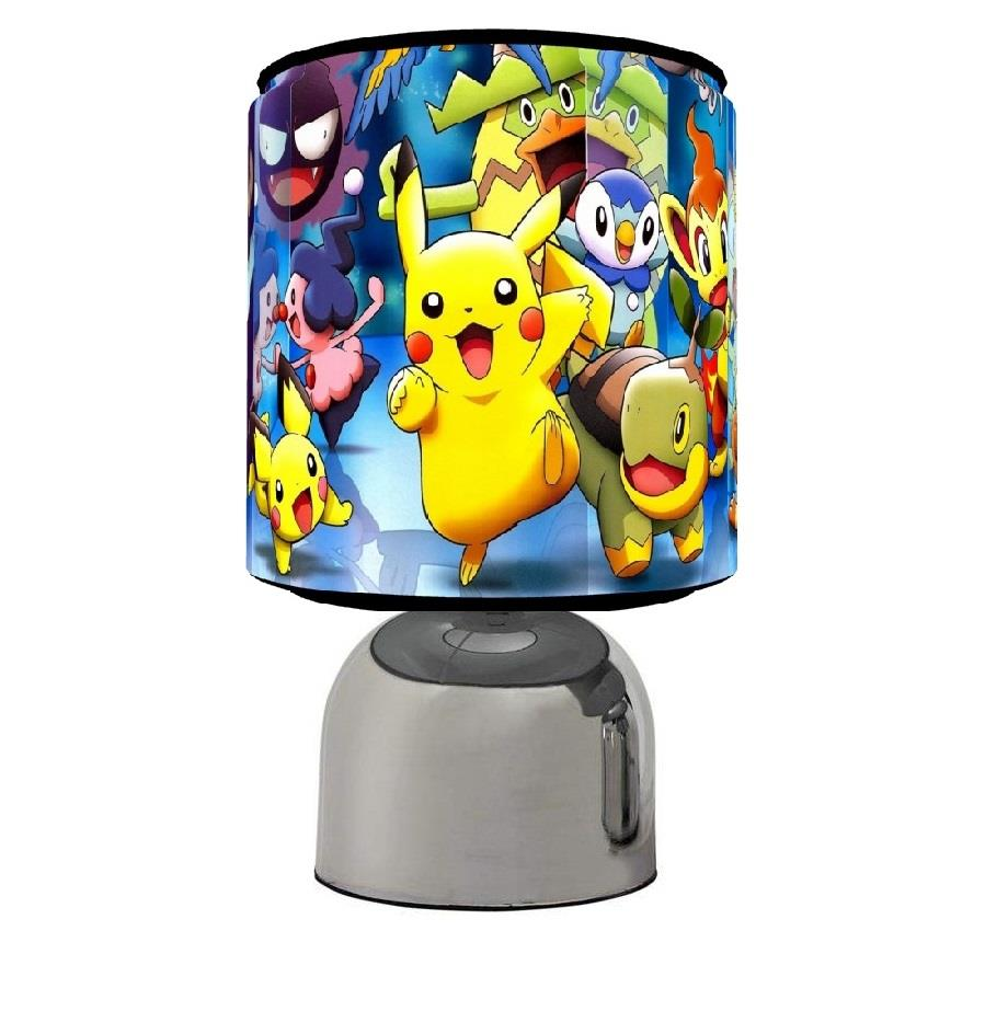 Pokemon Go Touch Table Bedside Lamp Kids Room 3 Designs