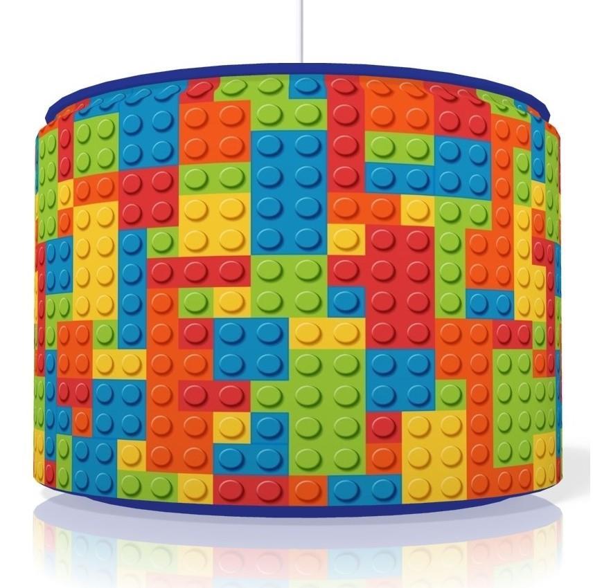 LEGO BRICKS LIGHT SHADE PERSONALISED ART TOUCH LAMP