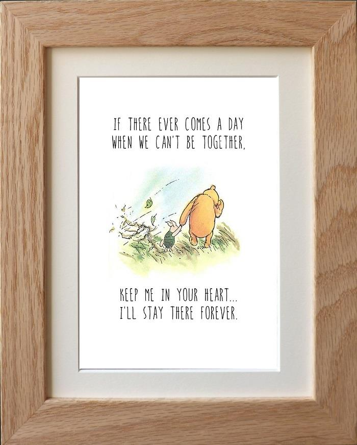 Classic Winnie The Pooh Quote Prints Wall Art X 4 Designs