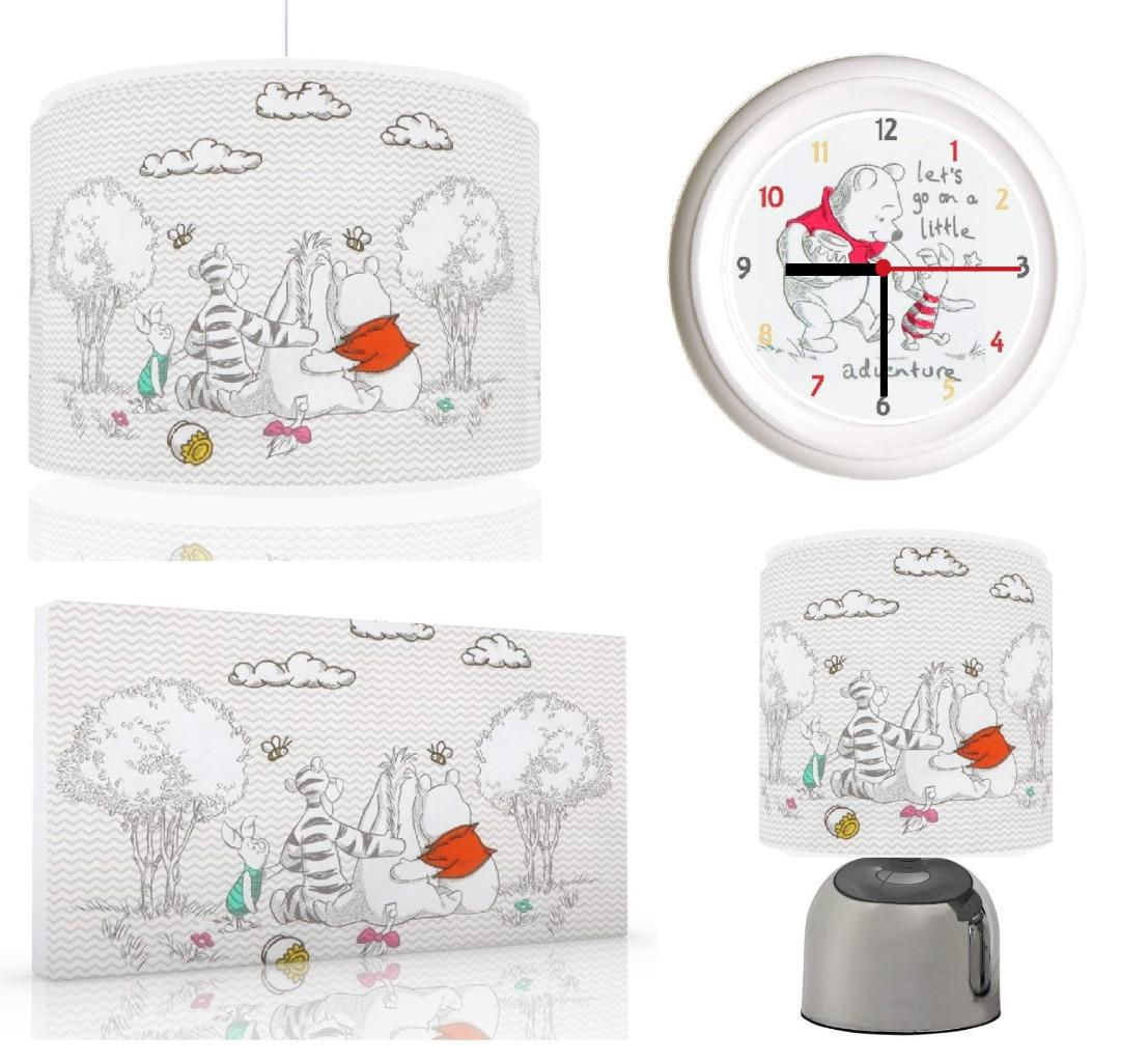 Winnie the pooh baby bundle light shade touch lamp clock canvas winnie the pooh baby bundle light shade touch aloadofball Images