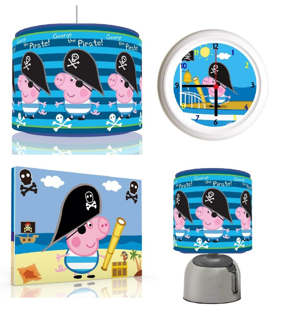 Peppa pig george pirate bundle light shadetouch lampclock canvas peppa pig george pirate bundle light shade touch aloadofball Image collections