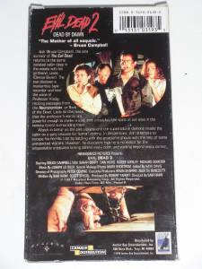EVIL DEAD 2 DAWN 1998 VHS VIDEO ZOMBIE DEMON HORROR BRUCE ...