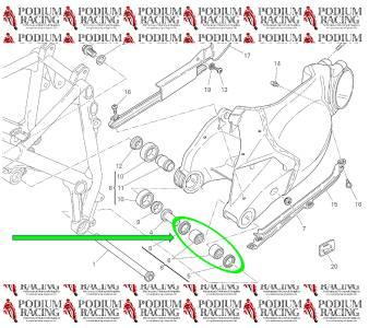 DUCATI SWINGARM PIVOT BEARINGS WITH SWING ARM BEARING SEALS 749 /& 999