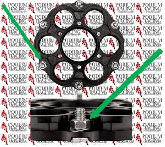DUCATI BLACK TITANIUM 12 POINT SPROCKET NUTS SET OF 6  SELF-LOCK 1198