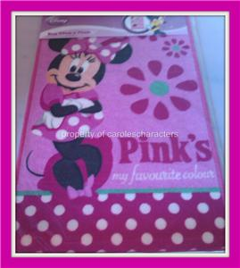 new girls pink disney minnie mouse bedroom rug ebay 16201 | 515045151 tp