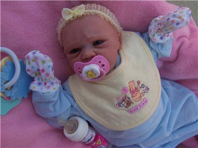 Ooak Lifelike Reborn Baby Girl Doll Zoe Michelle Fagan