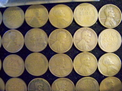 Less than 26 cents each! Half Roll of SHARP 1928-D Lincoln Cents Good-Fine 25
