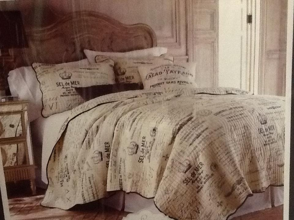 Lyon Collection Luxury Quilt French Country Script Postage