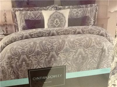 Cynthia Rowley 100 Cotton King Size Duvet Comforter Cover
