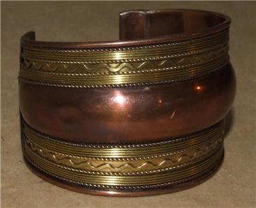 34 wide domed plain brass cuff