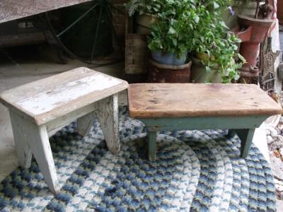 Rustic Primitive Antique Foot Stool Footstool Barn Find ...