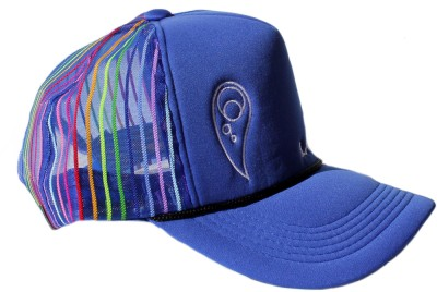 "LARIKIN /""The Martin Plaza/"" Mens Australian Hat Trucker Cap Royal Blue Stripes"