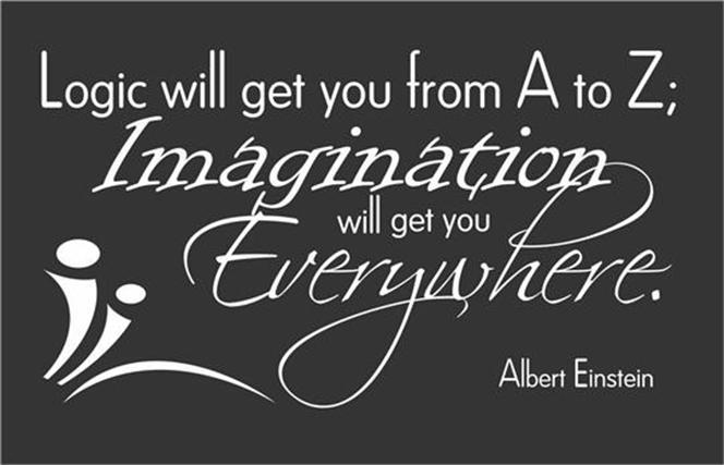 Logic Imagination Quote Albert Einstein Home Classroom