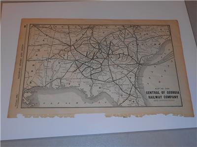 Original Map Of The Central Of Georgia Railway Company And