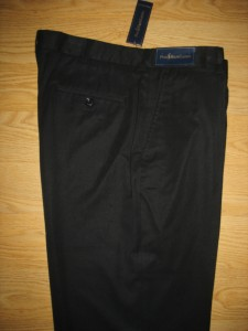 RALPH LAUREN MENS SILK COTTON FLAT DRESS PANTS 38 30