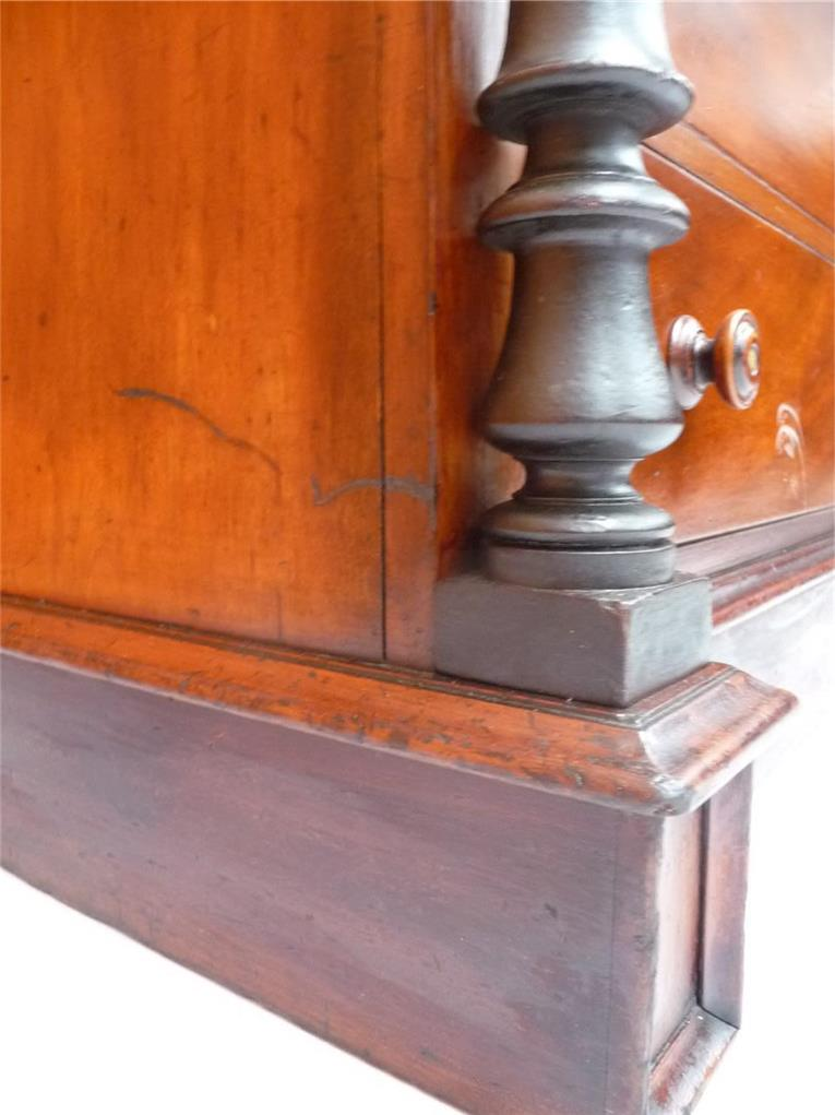 Cedar Nine Drawer Chest Cantelever Campaign Late 1800s