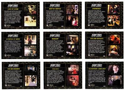 "Complete Star Trek Next Generation TNG Series 2-9 Card /""Holodeck/"" Set H1-H9"