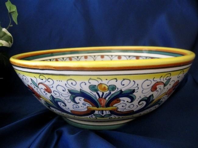 Deruta Ricco Italian Pottery Serving Bowl Pasta Bowl | eBay