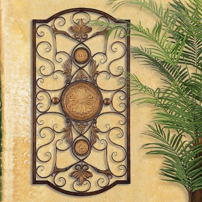 Large Mediterranean Wall Decor : Tuscan italian old world mediterranean style wall grille