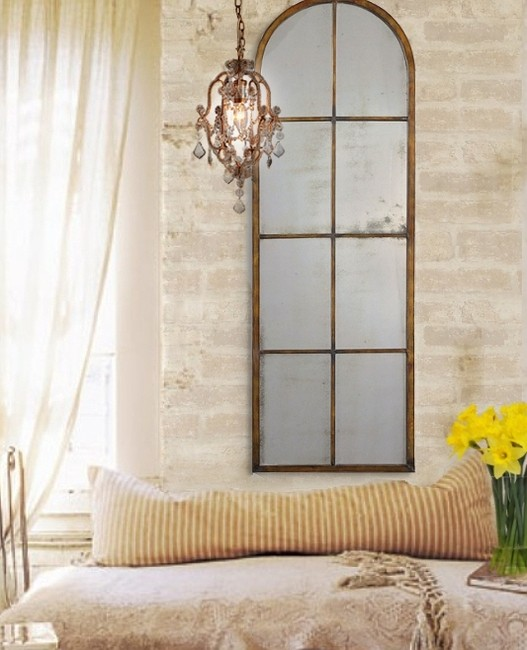 Paris French Tuscan Old World Loft Style Antiqued Arched