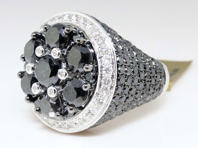 Mens Solitaire Diamond Pinky Rings