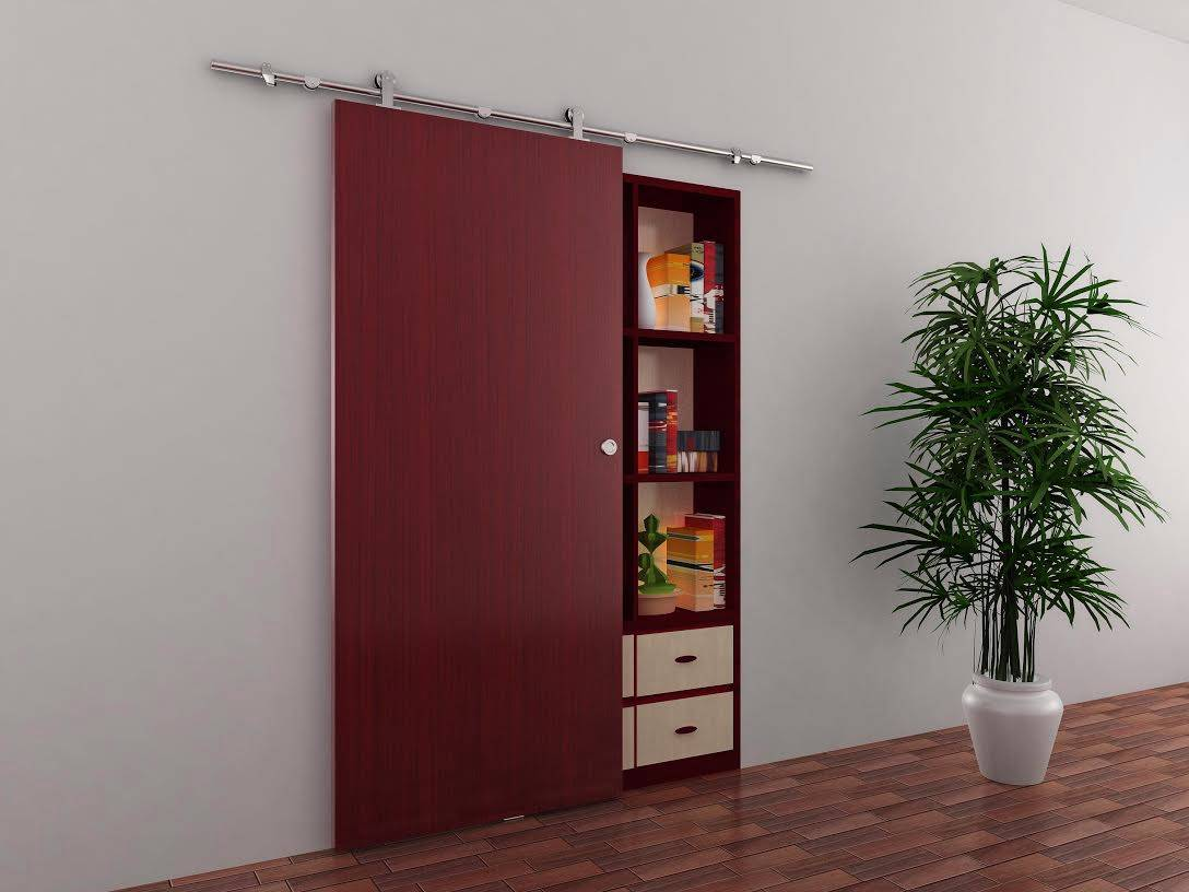 Modern Set of Barn Door Hardware For