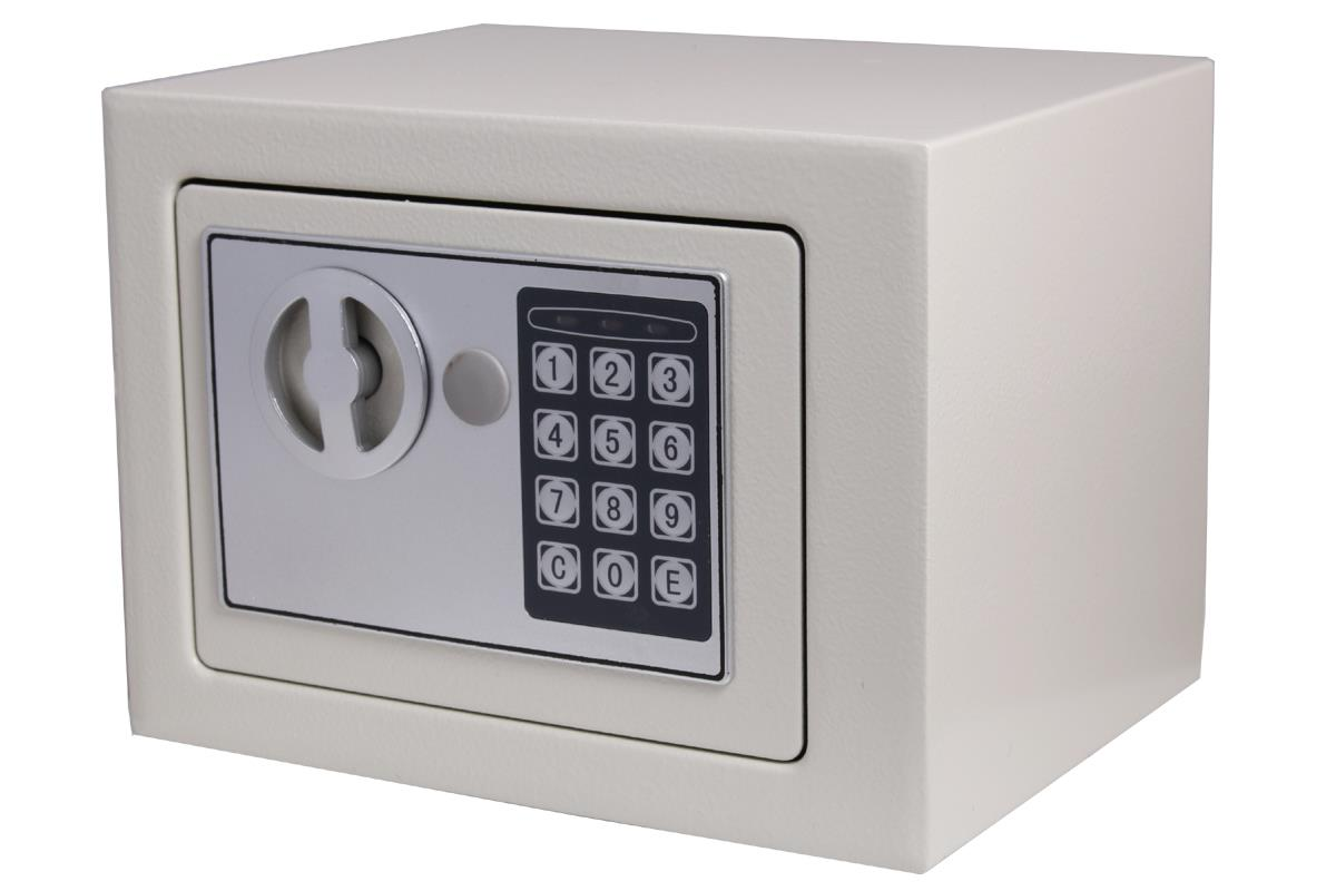 White Small Digital Electronic Safe Box Security Keypad