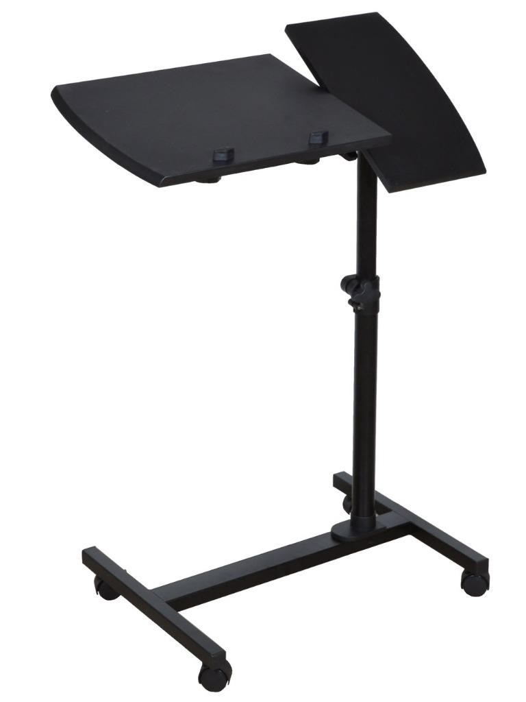 Adjustable Angle Amp Height Rolling Laptop Desk Table Stand
