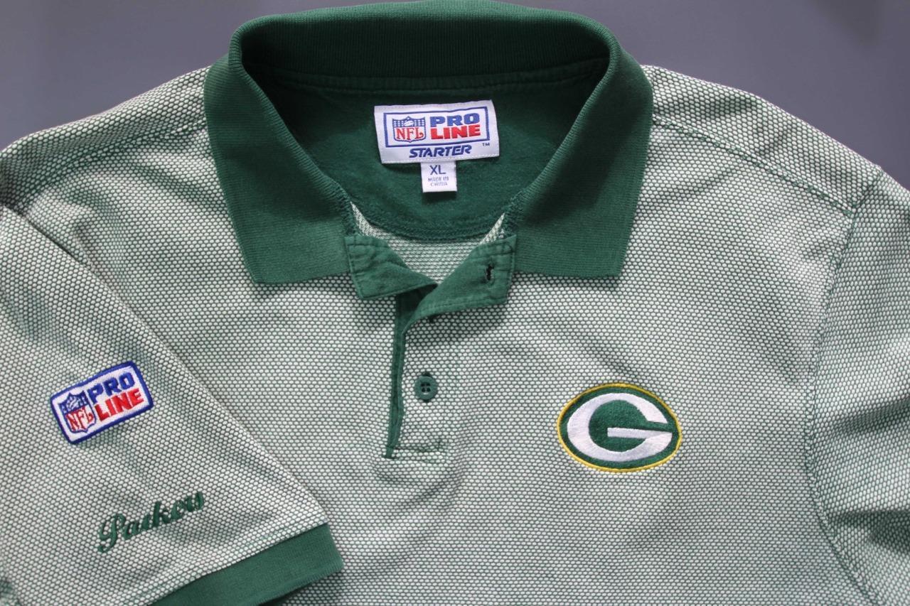 Vtg Green Bay Packers Polo Shirt Nfl Football Pro Line Starter