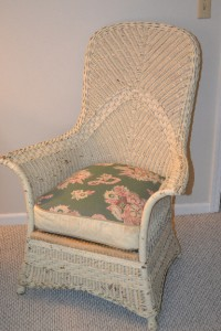 Antique Wicker Chaise Lounge Sofa And Chair Horsehair