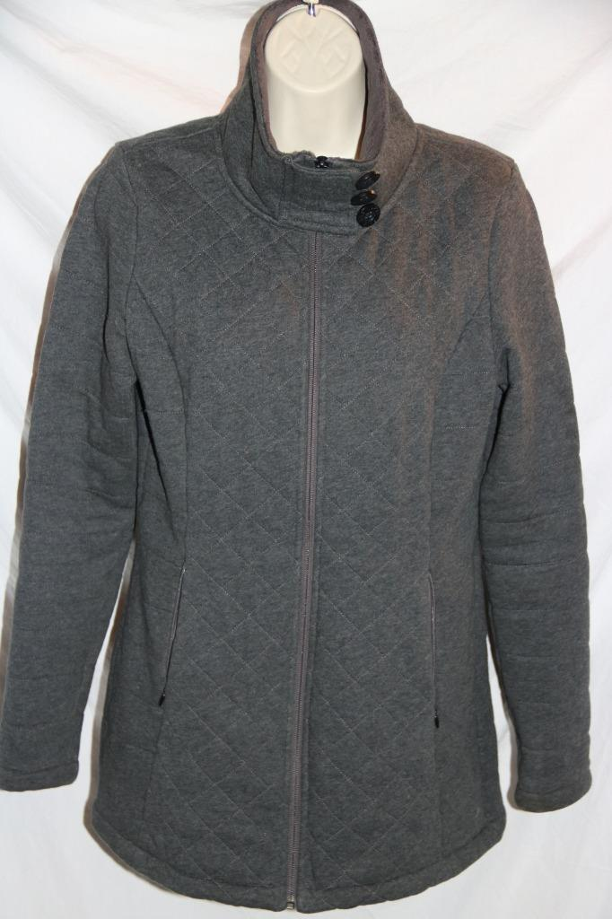6f0fa25af North Face Women's Jacket Caroluna Quilted Fleece Gray Sz Small FREE ...