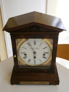 Superb Knight Amp Gibbins Mahogany Westminster Bracket Clock