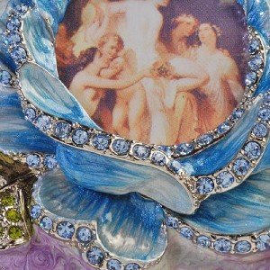 brand new rucinni swarovski crystal trinket box