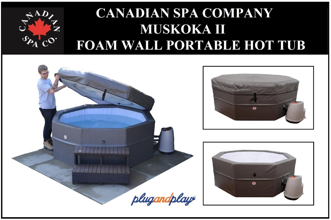 canadian spa muskoka ii hot tub portable spa insulated foam wall 3 speed ebay. Black Bedroom Furniture Sets. Home Design Ideas