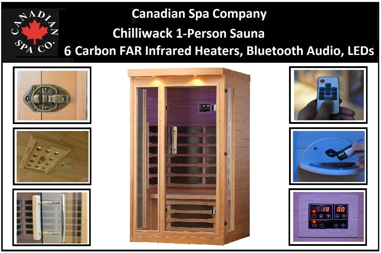 canadian spa chilliwack 1 person far infrared sauna 6 carbon infrared heaters ebay. Black Bedroom Furniture Sets. Home Design Ideas