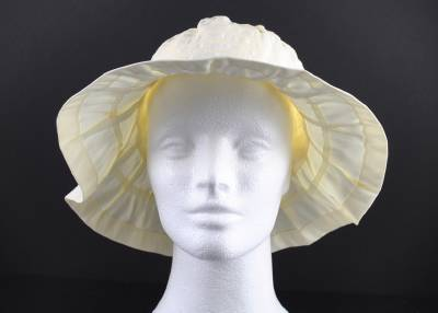 34916858cef Jeanne Simmons Ivory White Braid String Trim Hat 3