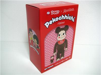 Medicom BE@RBRICK Peko Chan Monchhichi Pekochhichi 400/% /& 100/% Fujiya Pekochichi