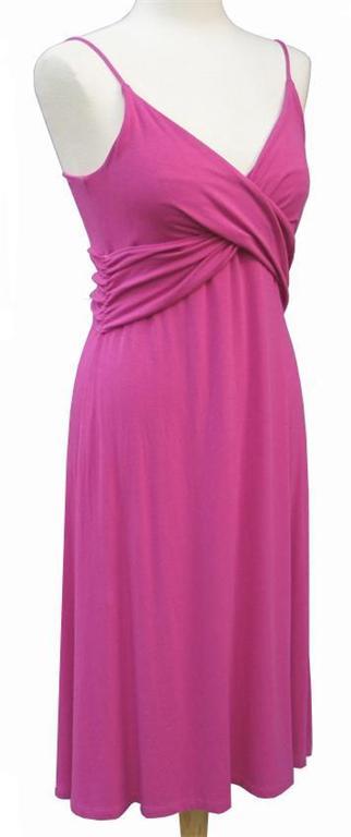 Tahari By Elie Tahari Pink Fuchsia Knit Surplice Dress