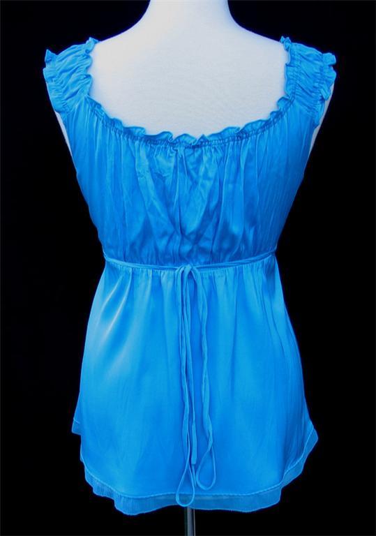 Elie Tahari Aqua Turquoise Blue Jolie Blouse Top Tank