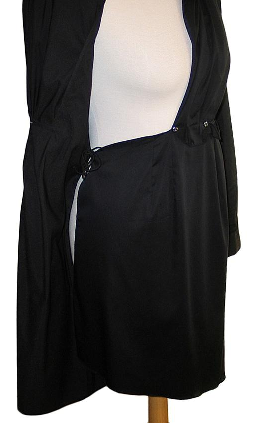 Elie Tahari Black Stretch Sateen Kloe Dress Nwt Size