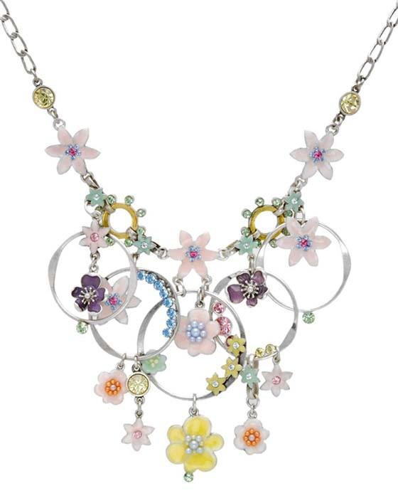 Pilgrim Danish Design Pastel Floral Swarovski Crystal