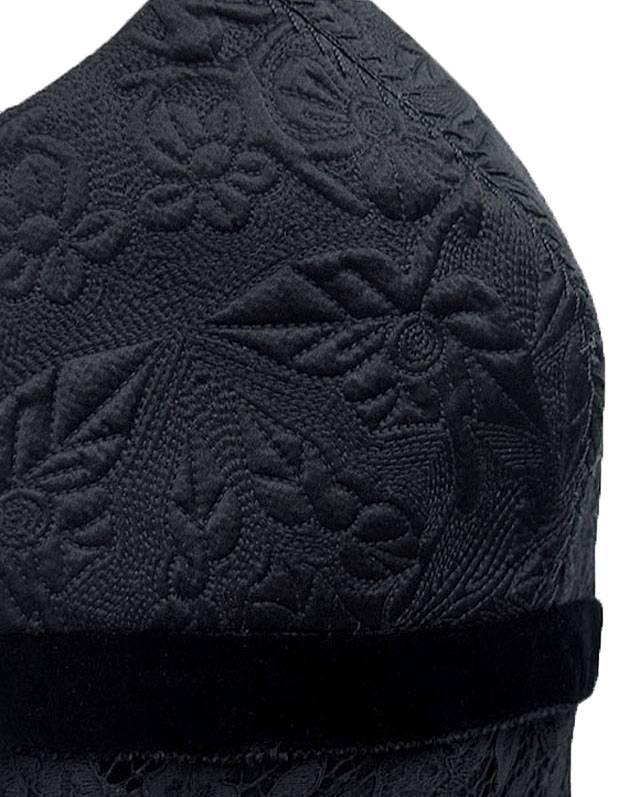 ELIE TAHARI • Black Embroidered Lace ELIA Blouse Top • NWT